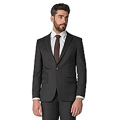 Stvdio by Jeff Banks - Charcoal check 1 button front tailored fit suit