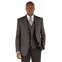 Stvdio by Jeff Banks - Heavy grey flannel check 2 button front tailored fit jacket