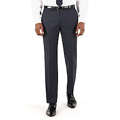 Stvdio by Jeff Banks - Blue twill plain front tailored fit luxury suit trouser