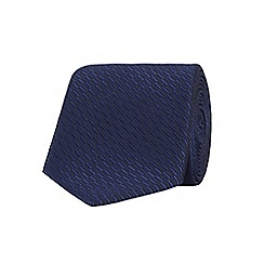 Stvdio by Jeff Banks - Navy Irregular Textured Tie