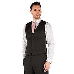 Racing Green - Plain black twill waistcoat