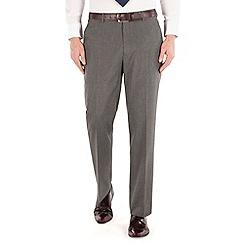 Thomas Nash - Grey semi plain regular fit suit trouser
