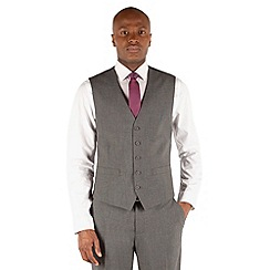 Thomas Nash - Grey semi plain 5 button waistcoat