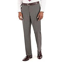 Thomas Nash - Grey semi plain tailored fit suit trouser