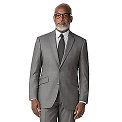 Occasions - Grey plain weave regular fit 2 button jacket