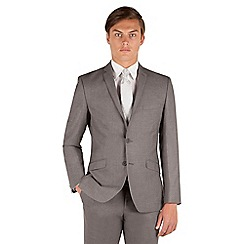 Occasions - Grey plain weave slim fit 2 button suit