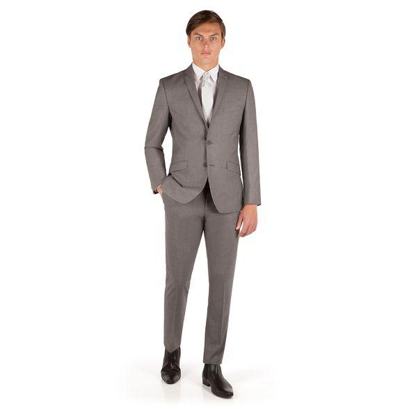 Occasions slim 2 button plain weave fit jacket Grey pwqntRrp