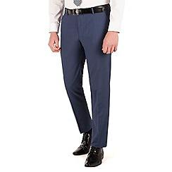 Occasions - Blue plain slim fit 2 button trouser