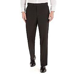Occasions - Black twill regular fit dresswear trouser