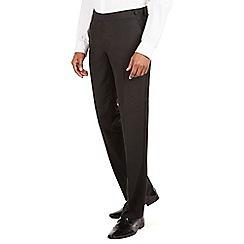 Occasions - Black plain weave dresswear tailored fit suit trouser
