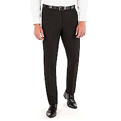 Occasions - Black plain weave dresswear slim fit suit trouser