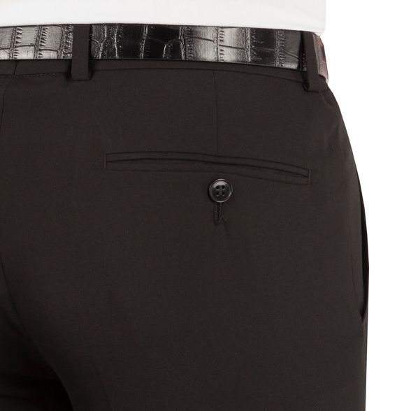 suit dresswear fit trouser weave plain Black slim Occasions WfUncCRFq