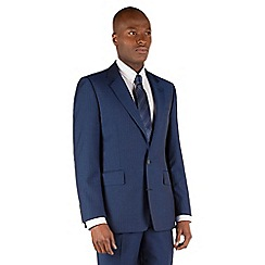 Hammond & Co. by Patrick Grant - Blue herringbone 2 button front tailored fit st james suit jacket