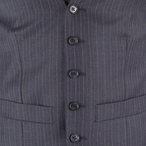 Blue Patrick stripe front james grey Grant st suit Hammond Co button by waistcoat amp; 6 pTBRxnSX