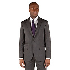 Stvdio by Jeff Banks - Grey nailhead 1 button tailored fit suit