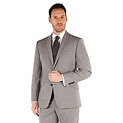 J by Jasper Conran - Grey plain 2 button front tailored fit occasions suit jacket