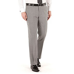 J by Jasper Conran - Grey plain flat front tailored fit occasions suit trouser