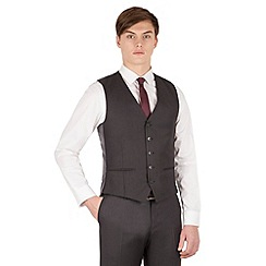 Red Herring - Charcoal twill 5 button slim fit suit waistcoat