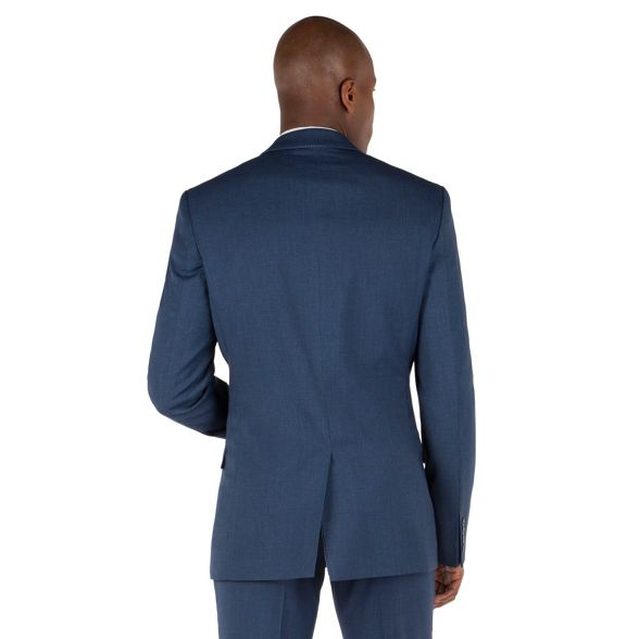 button Blue jacket textured fit slim Herring tipped 2 Red 7qAw05O7