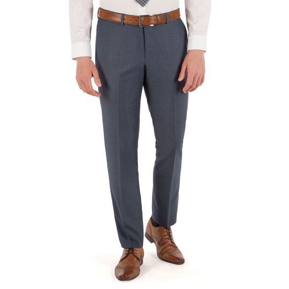 trouser semi Blue Red fit plain Herring slim vg6Ywq07