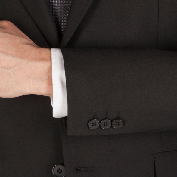 black washable panama fit suit front Jackson Karl Plain 2 jacket regular button 6qwEZT