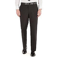 Karl Jackson - Plain black panama regular fit washable suit trouser