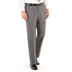 Karl Jackson - Mid grey panama washable regular fit trouser