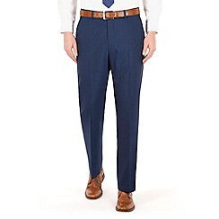 Karl Jackson - Blue panama regular fit washable suit trouser