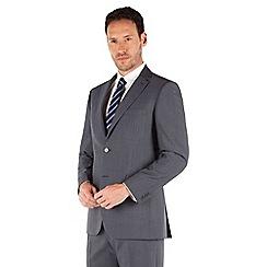 Karl Jackson - Petrol blue tonic 2 button front regular fit washable suit jacket