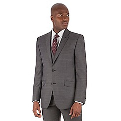 Racing Green - Charcoal pick and pick tailored fit 2 button suit