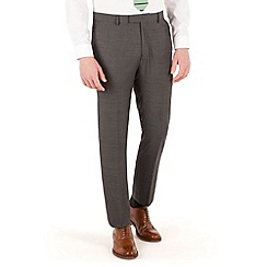 Racing Green - Charcoal pick and pick slim fit suit trouser