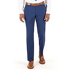 Ben Sherman - Bright blue panama plain front slim fit kings suit trouser