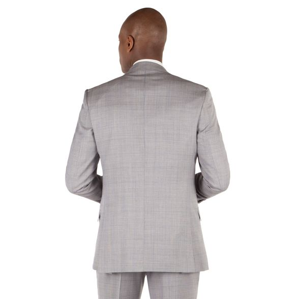 Sherman Grey front Ben jacket button check slim heritage kings suit fit 2 q5YCxdfCnw