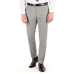 Ben Sherman - Prince of wales check plain front super slim fit camden suit trouser