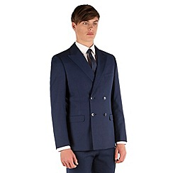Red Herring - Sapphire blue twill slim fit DB 4 button jacket