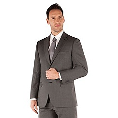Pierre Cardin - Grey fine stripe regular fit 2 button suit