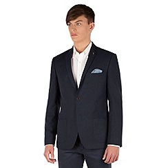Red Herring - Blue micro design 2 button slim fit jacket