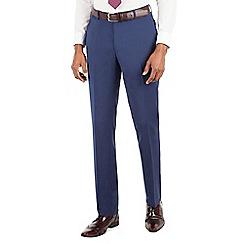 Stvdio by Jeff Banks - Stvdio by Jeff Banks Blue plain flat front ivy league suit trouser