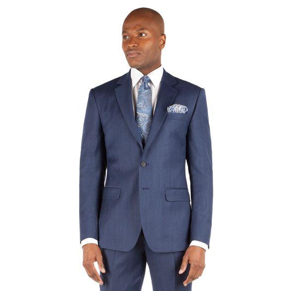 league front 2 by Blue fit Banks Stvdio button jacket ivy flannel suit Jeff z6FAT