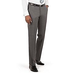 Ben Sherman - Ben Sherman Grey textured plain front slim fit kings suit trousers
