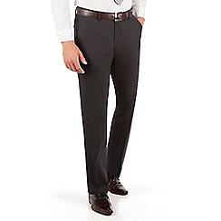 Ben Sherman - Ben Sherman Oatmeal brown textured plain front super slim fit camden suit trouser