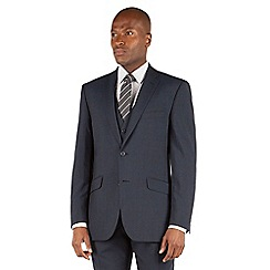Racing Green - Racing Green Slate blue puppytooth tailored fit 2 button suit jacket