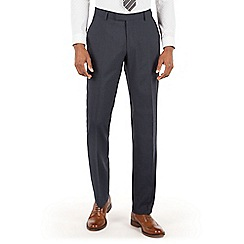 Racing Green - Racing Green Slate blue puppytooth tailored fit suit trouser