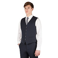 Red Herring - Navy twill 5 button slim fit suit waistcoat