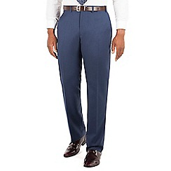 Centaur Big & Tall - Bright blue pick and pick big and tall suit trousers