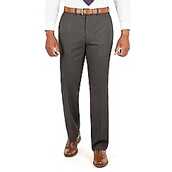 Centaur Big & Tall - Charcoal semi plain big and tall suit trousers