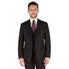 The Collection - Black plain regular fit 2 button suit jacket