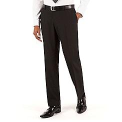 The Collection - Black plain tailored fit suit trouser