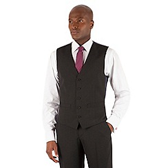 The Collection - Black stripe 5 button front waistcoat