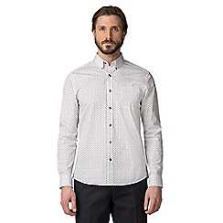 Jeff Banks - White micro paisley shirt